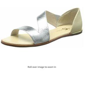 Yosi Samra Women's Casey Crossover Leather Sandal